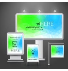 Outdoor advertising design vector image vector image