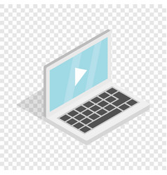 video movie media player on the laptop isometric vector image