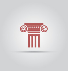 antique columns isolated colored icon vector image