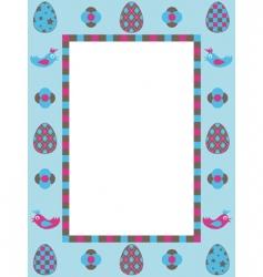 Easter frame decoration vector image vector image