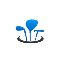 golf tool stick sport logo vector image vector image