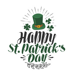 Happy st patrick s day greeting card irish beer vector