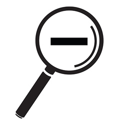 magnifying glass simple minus vector image vector image