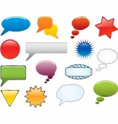 message icon set vector image