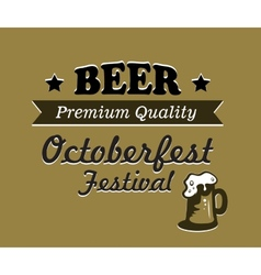 Oktoberfest beer poster design vector image vector image
