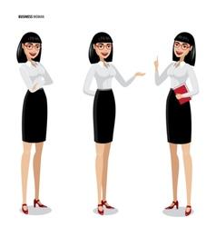 Set of businesswomen on white background vector