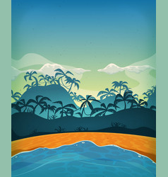 summer tropical desert island vector image