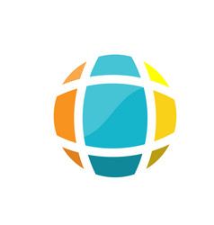 Abstract earth globe logo vector