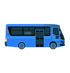 airport bus in blue color isolated on white vector image