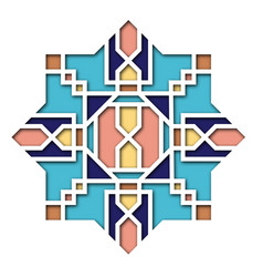 Arabesque design vignette in eastern style vector