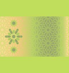 arabic green seamless pattern vector image
