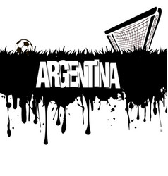 argentina with a soccer ball and gate vector image