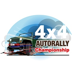 Auto Rally Championship vector image vector image