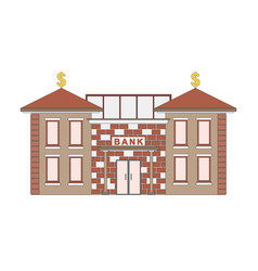 bank building front view facade icon for web vector image