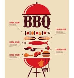BBQ Infographics vector