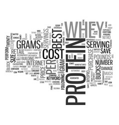 Best whey protein text word cloud concept vector