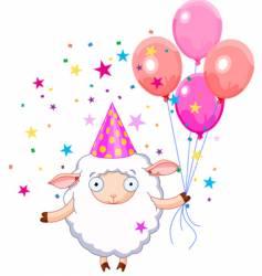 birthday sheep vector image