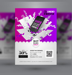 Black friday sale event corporate identity flyer vector