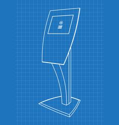 blueprint of promotional information kiosk vector image