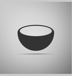 Bowl icon isolated on grey background vector