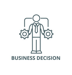 business decision making line icon vector image