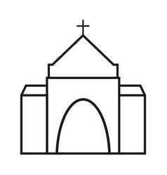Church of the icon religion for christianity vector