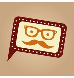 concept hipster mustache and glasses graphic vector image