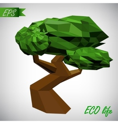Conceptual polygonal tree Abstract vector image