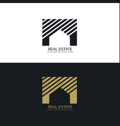 Creative house or real estate logo design concept vector