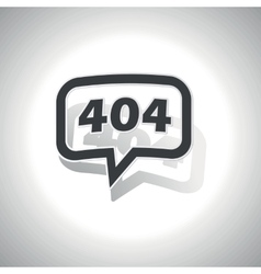 Curved error 404 message icon vector