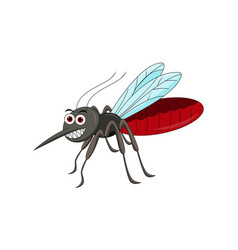 cute mosquito cartoon vector image