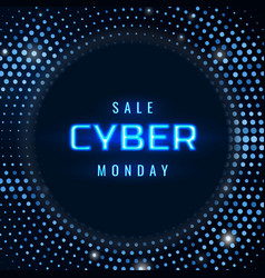 cyber monday sale technology background vector image