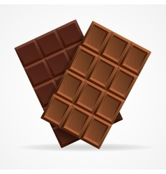 Dark and milk chocolate bar vector