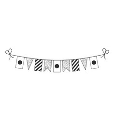 Decorations bunting flags for japan or bangladesh vector