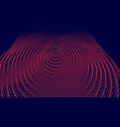 Digital surface noised ripple in cyber vector