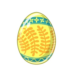 Easter egg Bright colored holiday symbol vector image