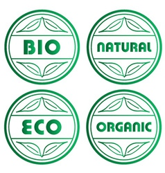 eco stamps vector image