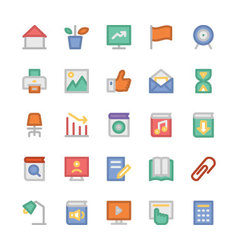Education Flat Colored Icons 3 vector image