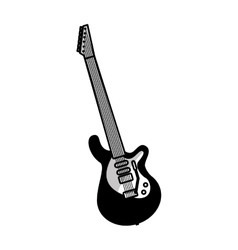 electric guitar instrument icon vector image