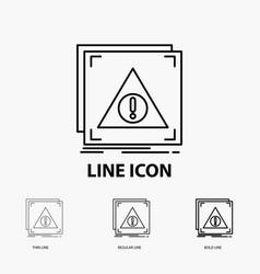 Error application denied server alert icon in vector