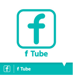F tube icon symbol vector