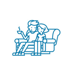 family leisure linear icon concept family leisure vector image