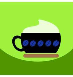 Flat icon design collection cappuccino coffee vector
