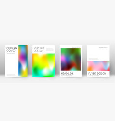 Flyer layout minimal exquisite template for broch vector