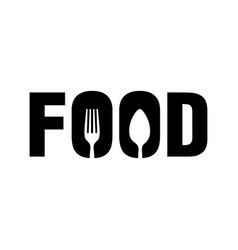 Food with spoon and fork symbol logo design vector
