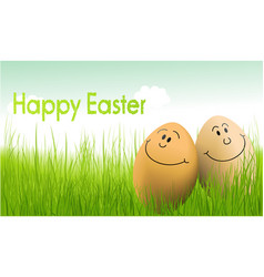 funny easter eggs vector image