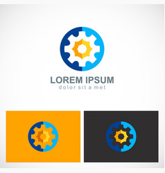 gear work colored business logo vector image