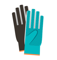 gloves colorful icon on white background vector image