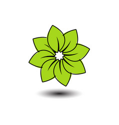 green flower image vector image