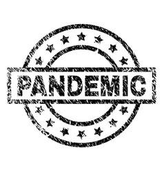 Grunge textured pandemic stamp seal vector